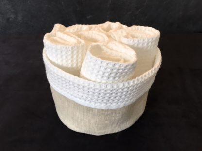 panière serviettes invités en lin